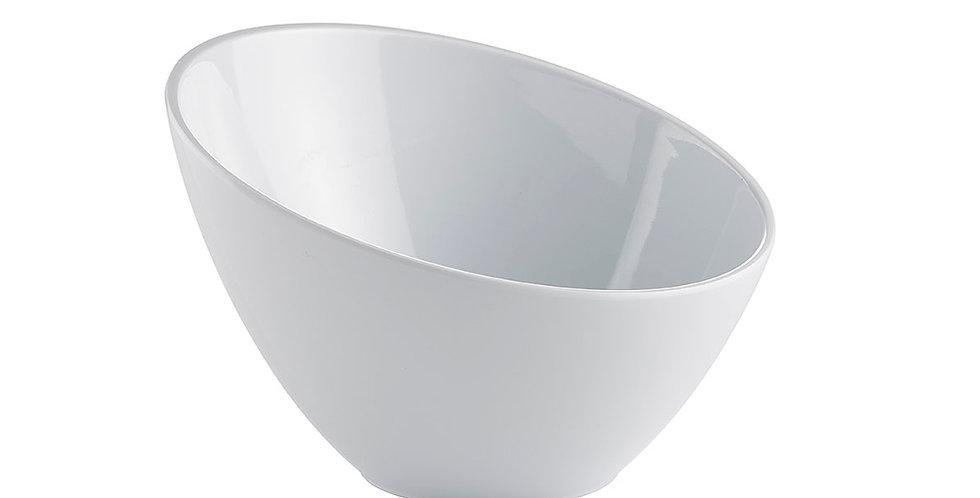 Tilted Bowl Leone Opale, Melamine, White, 1 pc, Ø21x14cm