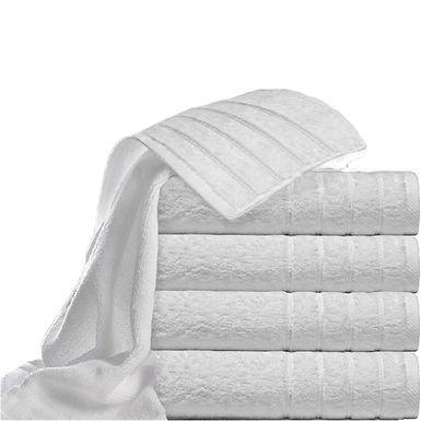 Bath Towel Fragente, White, Stripes Pattern, 16/1, 550gr/m², 70x140cm