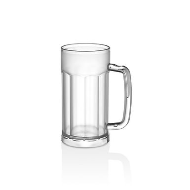 Beer Mug GastroPlast, PC, Frosted, 580ml