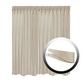 Blackout Curtain with 1 Tie, Light Brown, 295x250cm
