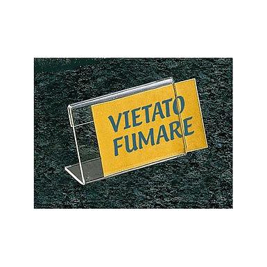 Single Card Stand Leone, Plexiglass, 8.5x5.5x2cm