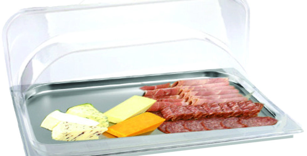 Buffet Tray, with Roll Top Lid, GN1/1, Inox, 53x32.5x2cm