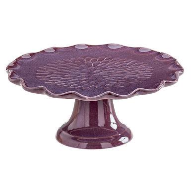 Cake Stand Leone Gauid, Stoneware, Purple, 1 pc, Ø21.5x8.7cm