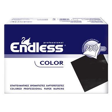 Professional Napkin Endless, Black, 1ply, 730gr, 750pcs, 24x24cm