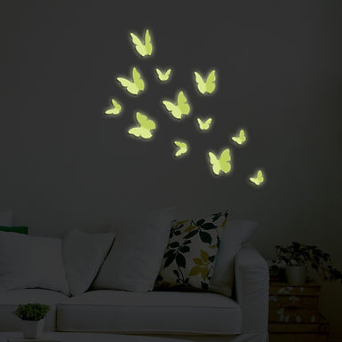 Butterflies Glow 3D WALPLUS, Sticker, 12pcs