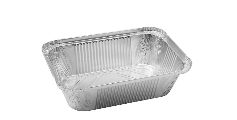 Aluminum Container for Takeaway/Delivery, 202x137x50mm, 940ml