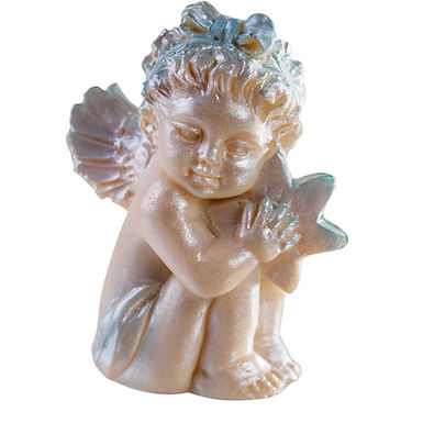 Angel and Star Mold Martellato Silicone Idea, Silicone, 65x45x80mm