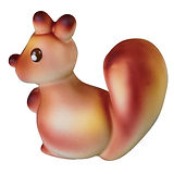 Baby Squirrel Mold Martellato, Polycarbonate, 6 pcs, 68x32x64mm, 32g