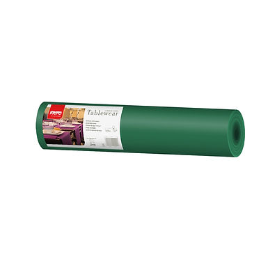 Disposable Runner Roll Fato Airlaid, Fabric Texture, Green, 0.4x24m