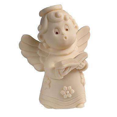 Angel with Book Mold Martellato Silicone Idea, Silicone, 80x60x105mm