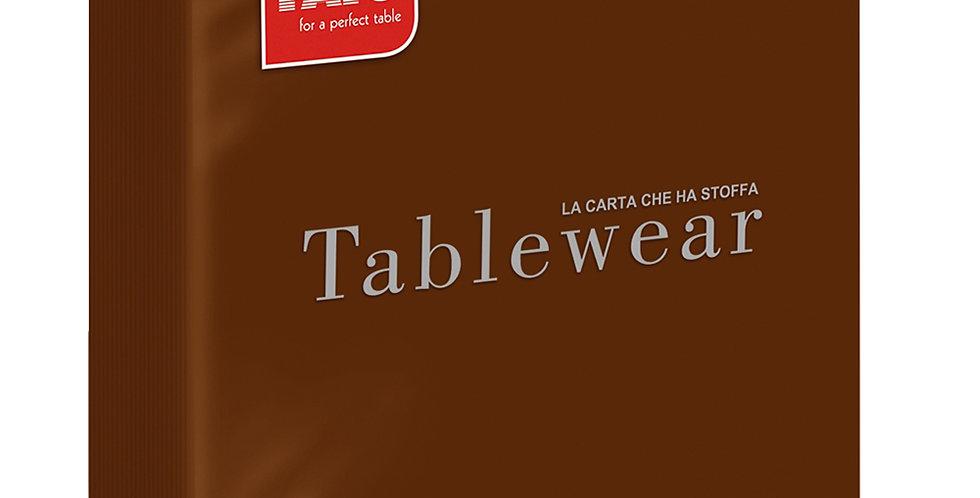 Napkin Fato Tablewear, Fabric Texture, Solid Color, Chocolate, 50pcs., 40x40cm