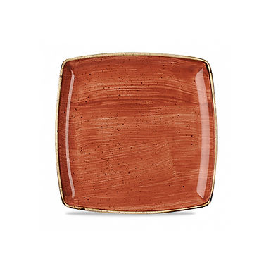 Flat Plate Churchill Stonecast, Square, Spiced Orange