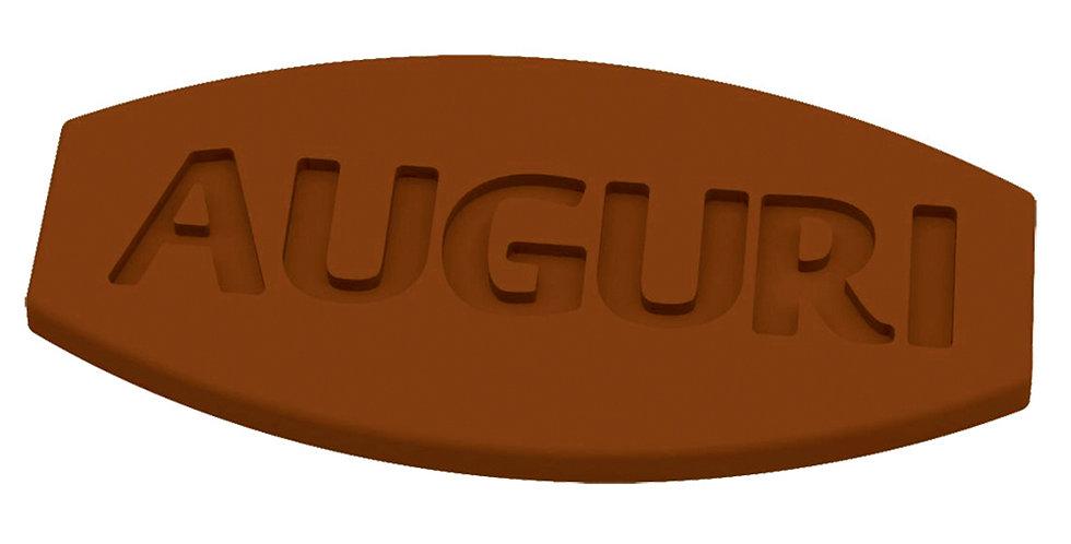 Auguri Mold Martellato Choco Tag, Thermoformed Plastic, 12 pcs, 59x29x3mm