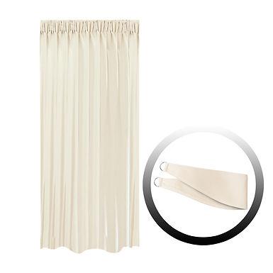 Blackout Curtain with 1 Tie, Beige, 144x250cm
