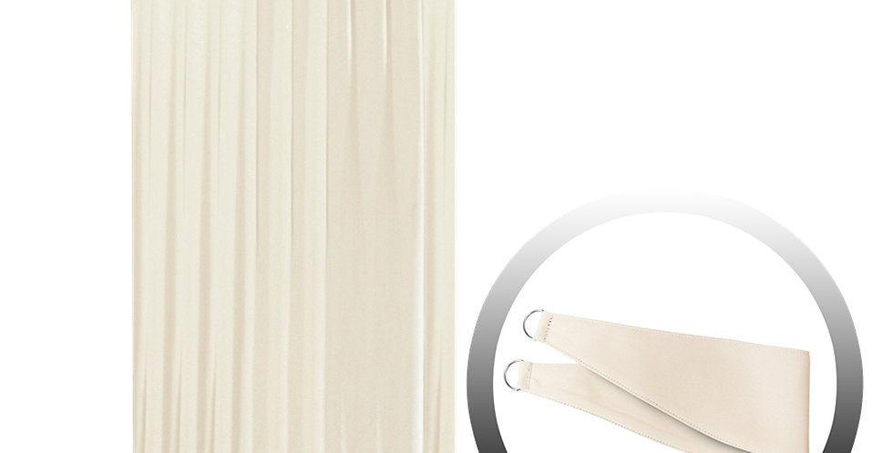 Blackout Curtain with 1 Tie, Beige, 144x250cm