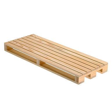 Mini Pallet Leone, Wooden, Natural, 1 pc, 40x15x3.5cm