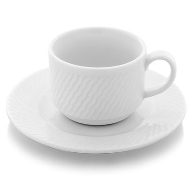 Stackable Cup Gural Porselen Panama, Porcelain, White, 2 Sizes