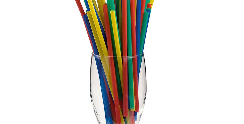 Straws Leone, PP, Mixed Colors, 1000 pcs, Ø7mm, 16cm