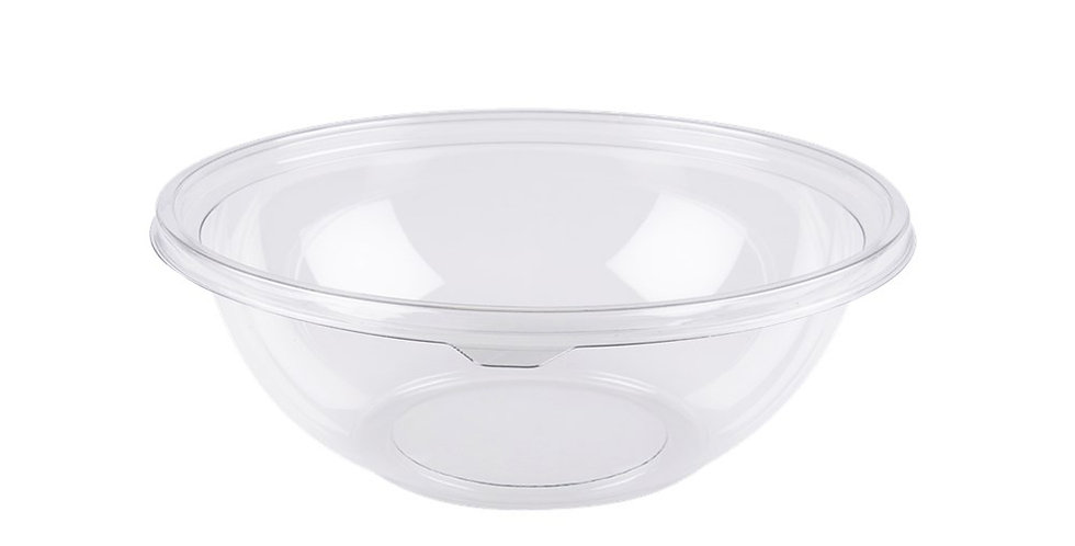 Disposable Salad Bowl Goldplast, Round, PET, Ø26x9.8cm, 2250ml