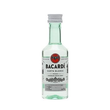 Bacardi Carta Blanca Rum, 50ml