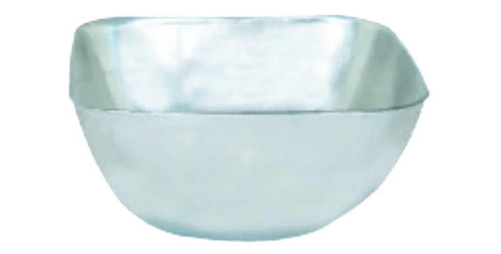 Bowl for Nuts, Square, Inox, 9.5x9.5x4.5cm