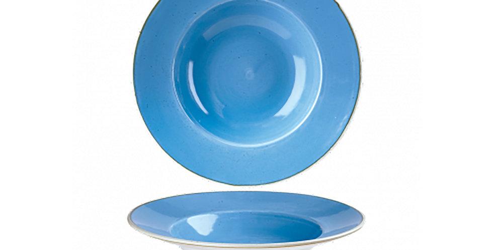 Pasta Plate Churchill Stonecast, Round, Cornflower Blue