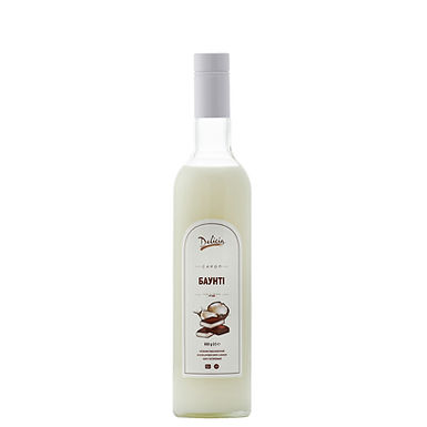 Bounty Syrup Delicia, 900g Glass Bottle