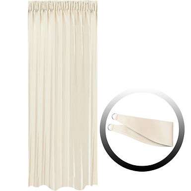 Blackout Curtain with 1 Tie, Beige, 144x290cm