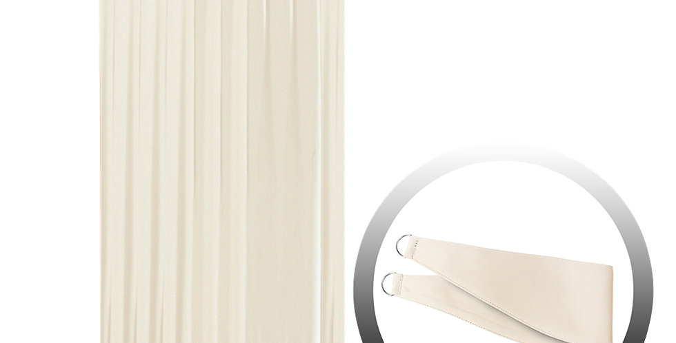 Blackout Curtain with 1 Tie, Beige, 144x290cm