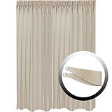 Blackout Curtain with 1 Tie, Light Brown, 295x290cm