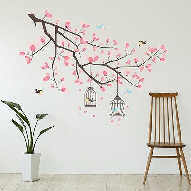 Branche Cherry Blossom WALPLUS, Sticker, 120x94cm