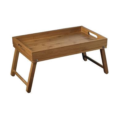 Breakfast Tray with Folding Legs Leone, Bamboo, 44x27cm