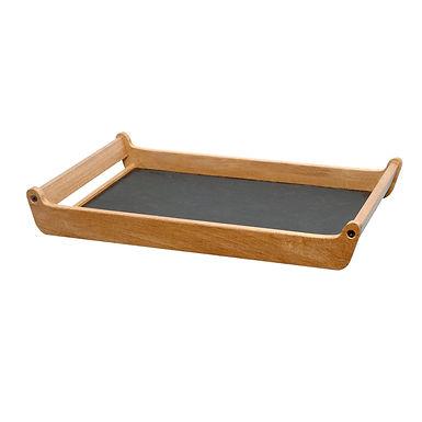 Breakfast Tray, Wooden, Black Painted, 60x40cm