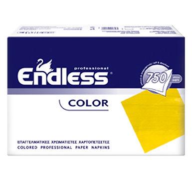 Professional Napkin Endless, Yellow, 1ply, 730gr, 750pcs, 24x24cm