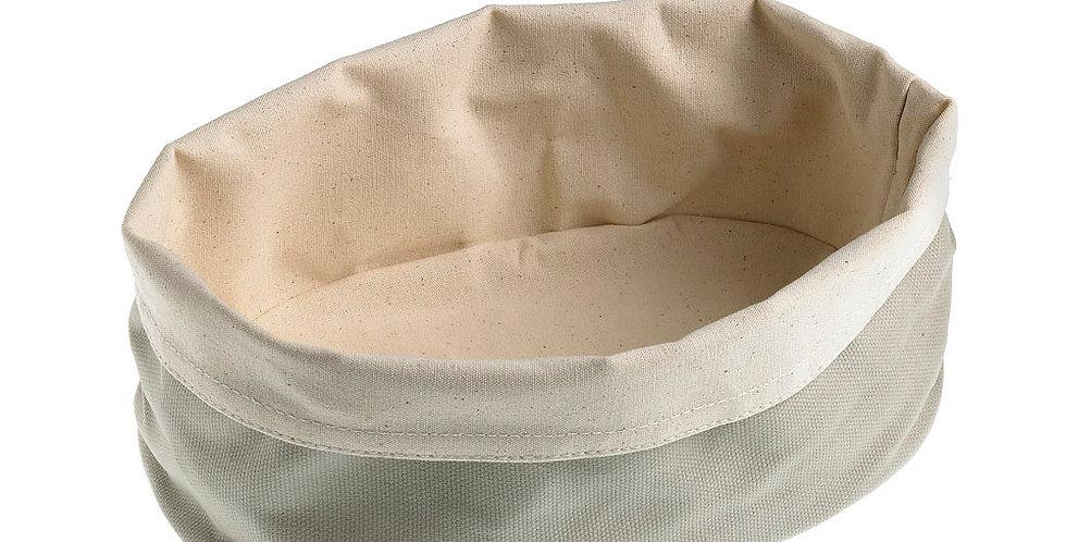 Bread Basket Leone, Cotton, Grey, 1 pc, 15x20x7cm