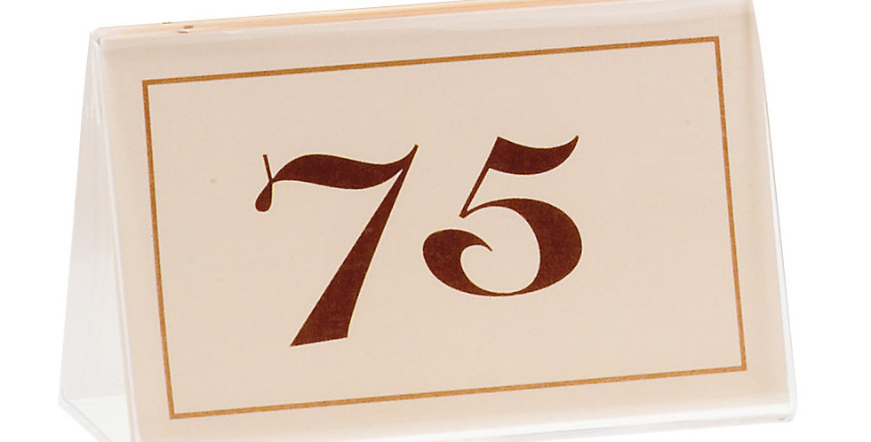 Table Numbers, 2 Sets of 26-50 Leone, Cardboard, 1 pc, 8.5x5cm