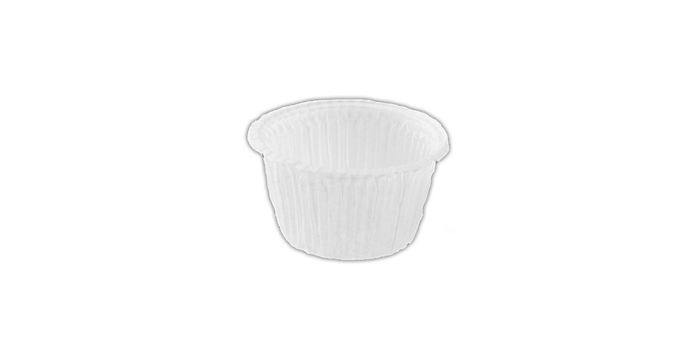 Disposable Muffin Mold, White, Ø63x36mm