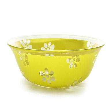 Bowl CoK Deco, Glass, Green, Ø12.5cm