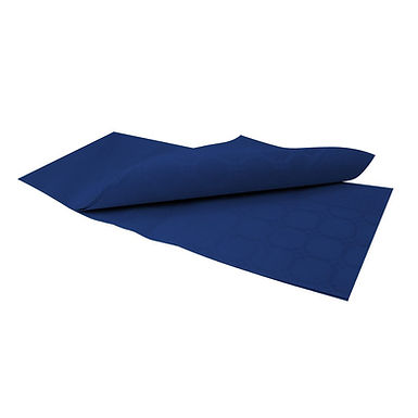Disposable Tablecloth Fato Damask, Embossed Texture, Dark Blue, 1x1m