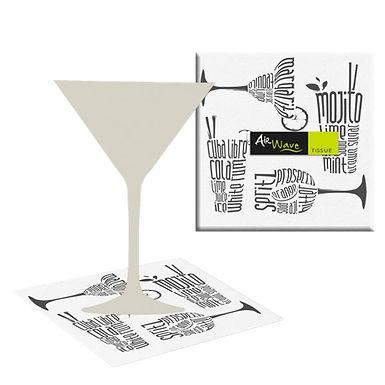 Napkin Pack Service Italia, Cocktail Design, 2 ply, 50pcs, 24x24cm