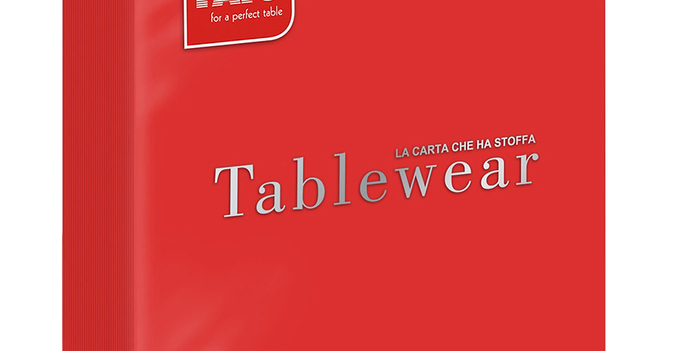 Napkin Fato Tablewear, Fabric Texture, Solid Color, Red, 50pcs., 40x40cm