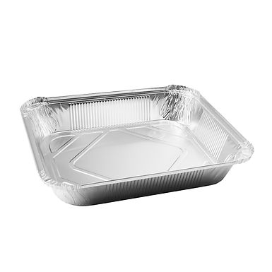 Aluminum Container for Takeaway/Delivery, 260x190x56mm, 2250ml
