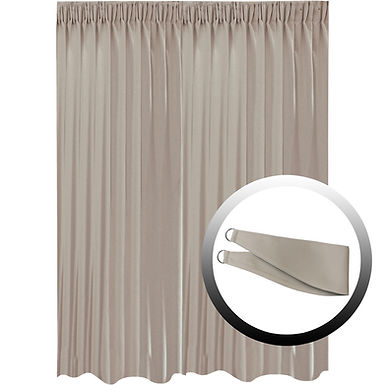 Blackout Curtain with 1 Tie, Middle Brown, 295x290cm