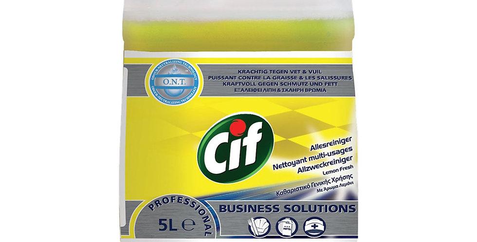 Universal Detergent Cif, Lemon Scent, 5L