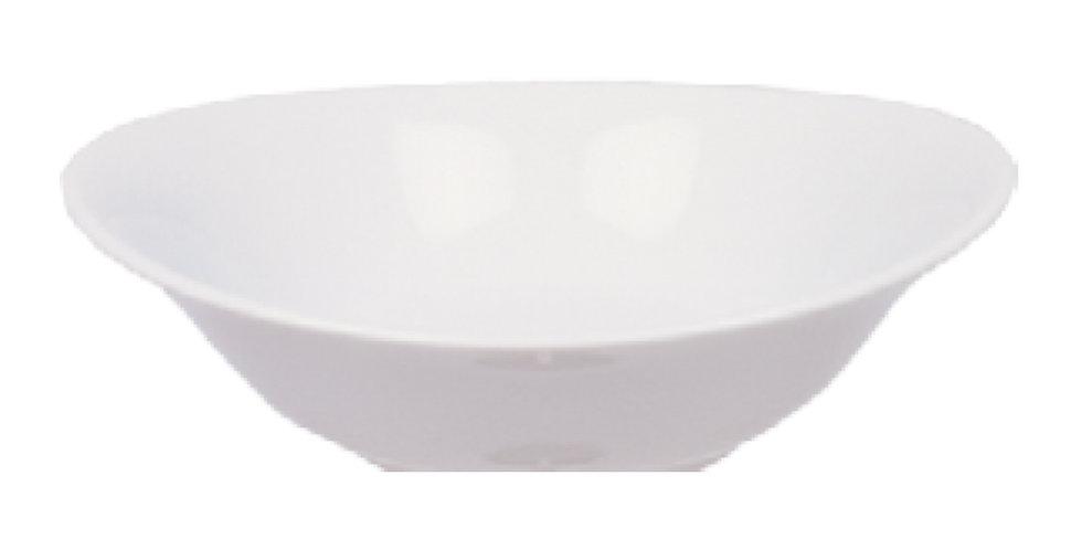 Bowl Gural Porselen Elips, Porcelain, White, 2 Sizes