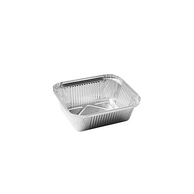 Aluminum Container for Takeaway/Delivery, 146x121x40mm, 435ml
