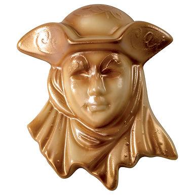 Carnival Mask Chocolate Mold Martellato, Thermoformed Plastic, 135x160x45mm