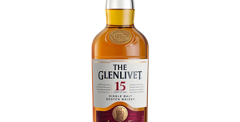 The Glenlivet 15 Years of Age Scotch Whisky, 700ml