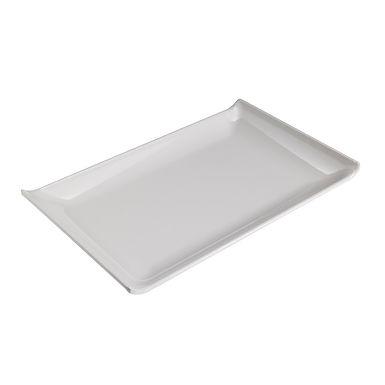 Rectangular Plate Leone, Melamine, White, 1 pc, 28.6x18x2.8cm