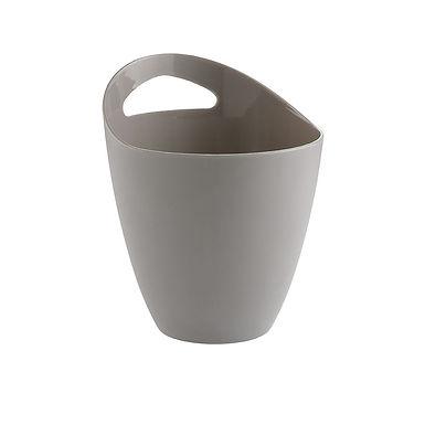 Bucket with Handle Leone, PS, Dove Gray, 1 pc, Ø13x17cm, 1000ml
